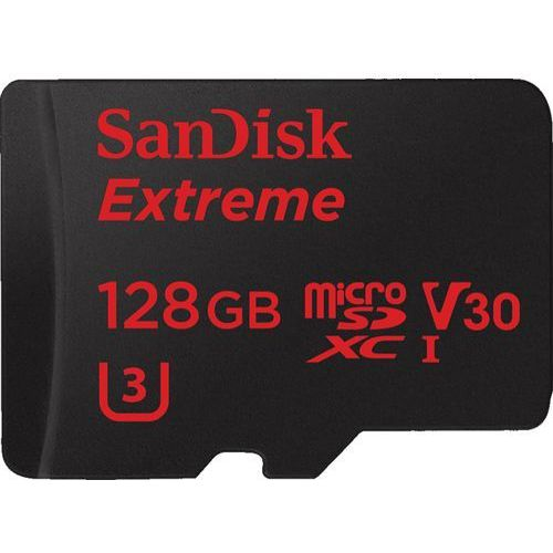 Sandisk microSDXC 128GB Extreme 90MB/s V30 UHS-I + SD Adapter + Rescue Pro Deluxe