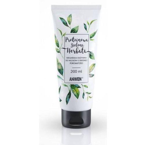 Anwen odżywka do włosów o średniej porowatości proteinowa zielona herbata 200 ml