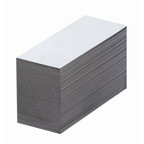 Haas Magnetyczna tablica magazynowa, białe, wys. x szer. 15x80 mm, opak. 100 szt. zap