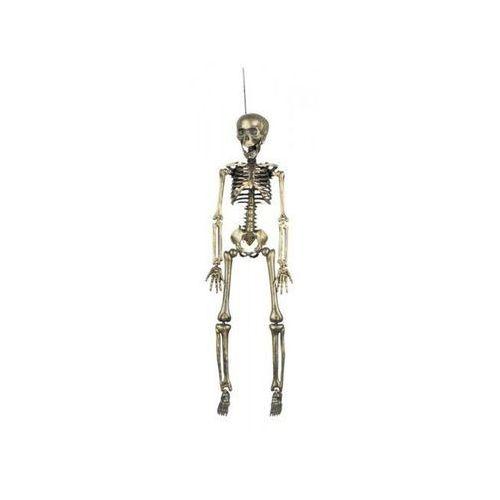 Dekoracja szkielet złoty 45 x 11 cm - przebrania i dodatki dla dorosłych marki Aster