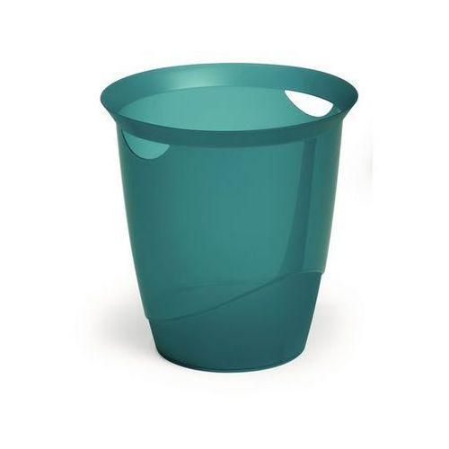 Kosz na śmieci trend 16l 1701710 przezroczysty turkusowy marki Durable