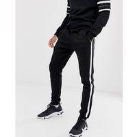 Good For Nothing skinny joggers in black with logo side stripe - Black, kolor czarny