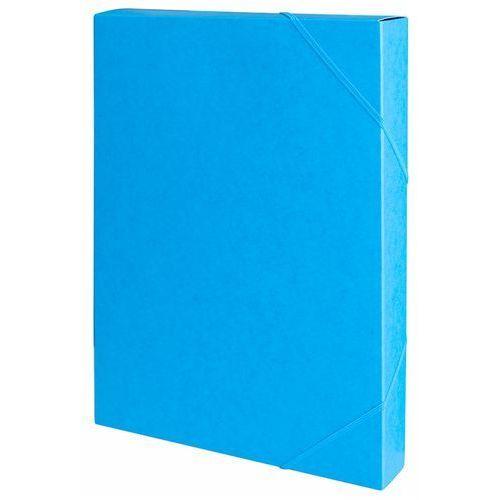 Teczka z gumką przestrz. OFFICE PRODUCTS, preszpan, A4/40, 450gsm, niebieska (5901503689493)