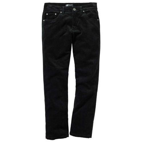 Spodnie sztruksowe regular fit straight czarny marki Bonprix