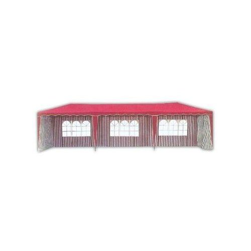 Pawilon ogrodowy 3901-PL czerwony 3 x 9m z bokami
