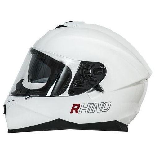 kask racer white gloss marki Rhino