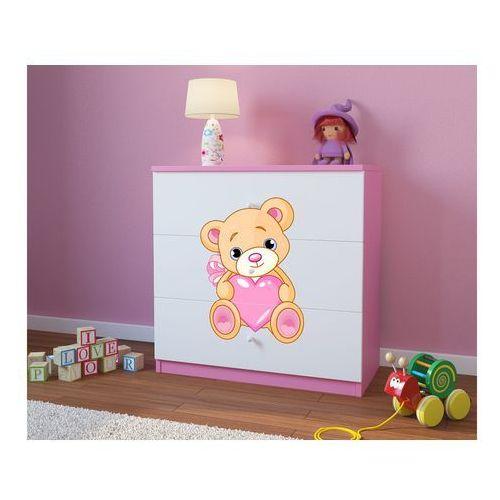 Kocot-meble Komoda dziecięca babydreams miś z sercem kolory negocjuj cenę