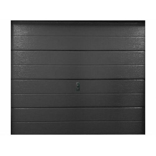 Brama garażowa segmentowa gładka BALIDO - antracyt.