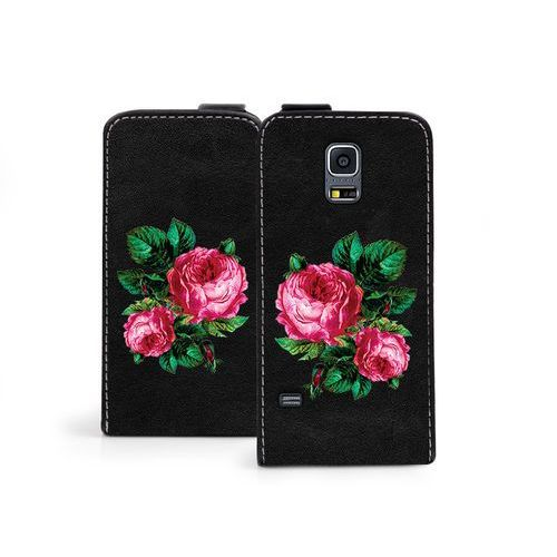 Samsung Galaxy S5 Mini - etui na telefon Flip Fantastic - czerwone róże, ETSM119FLFCEF039000