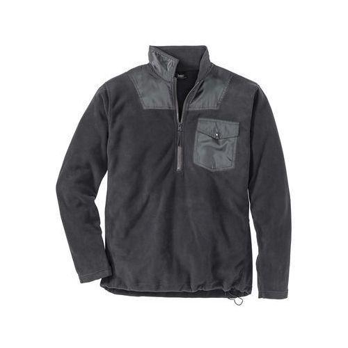 Bluza z polaru z zamkiem regular fit ciemnoszary marki Bonprix