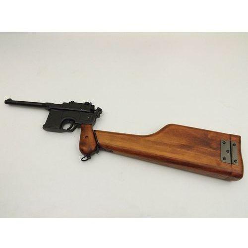 Denix sa Replika pistolet mauser c96 z drewnianą kolbą denix model 1025