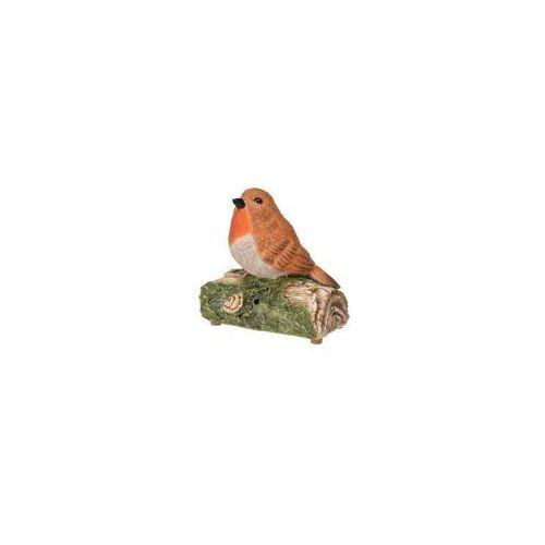 Sztuczny ptak śpiewający z poliresingu, figurka dekoracyjna do ogrodu odgrywająca ptasie trele