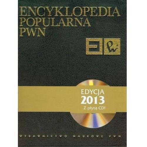 Encyklopedia popularna PWN + płyta CD, książka w oprawie twardej