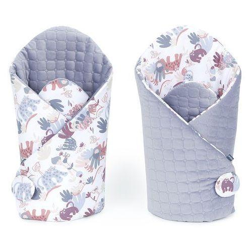 Mamo-tato rożek niemowlęcy dwustronny velvet lux sawanna szary świt / szary