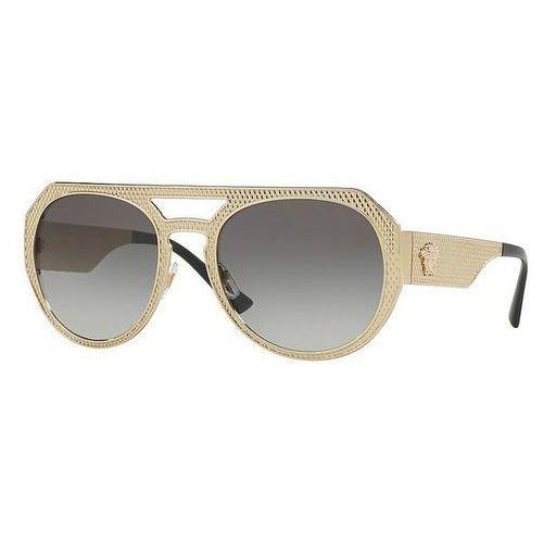 Okulary Słoneczne Versace VE2175 METAL MESH 125211, kolor żółty