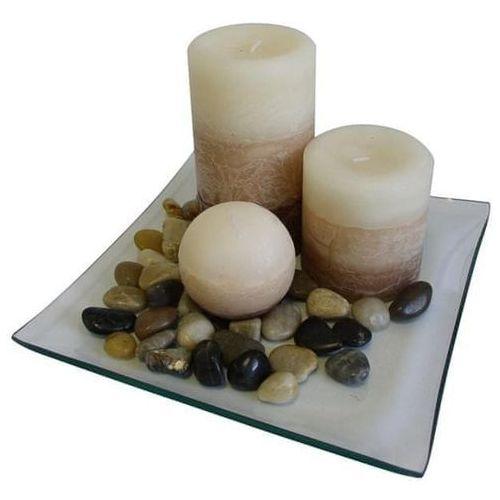 TORO Zestaw upominkowy 3 świece o zapachu wanilii (8591177034407)