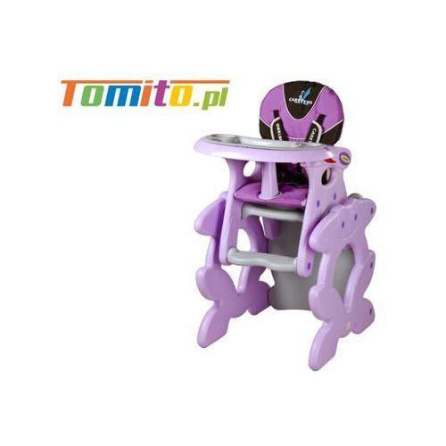 Caretero 2w1 krzesełko stolik do karmienia primus purple
