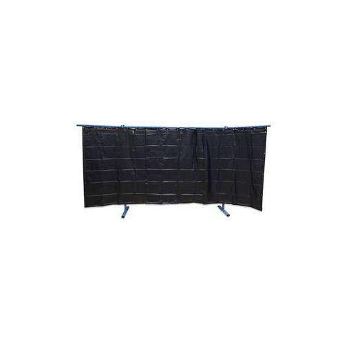 Spawalnicza ścianka ochronna, ruchoma,wersja 3-częściowa, wys. x szer. 1930 x 3800 mm