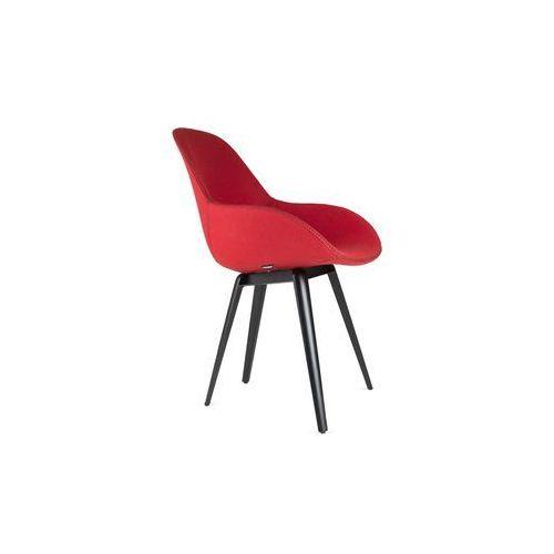 Kubikoff Krzesło SLICE DIMPLE TAILORED wełna slicedimpletailored-wool, kolor czarny