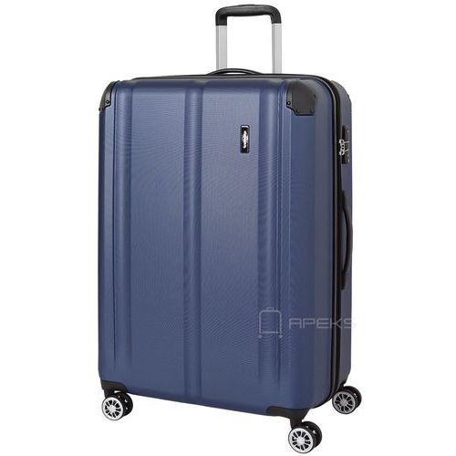 Travelite city duża walizka poszerzana 77 cm / granatowa - granatowy (4027002061552)