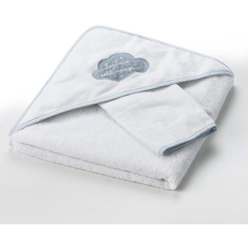 Ręcznik kąpielowy z kapturkiem i rękawica W chmurach 400 g/m²