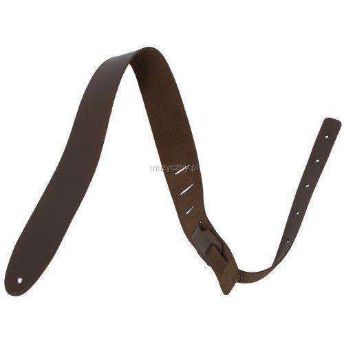 pes-7 pasek gitarowy skórzany, średni brąz marki Akmuz