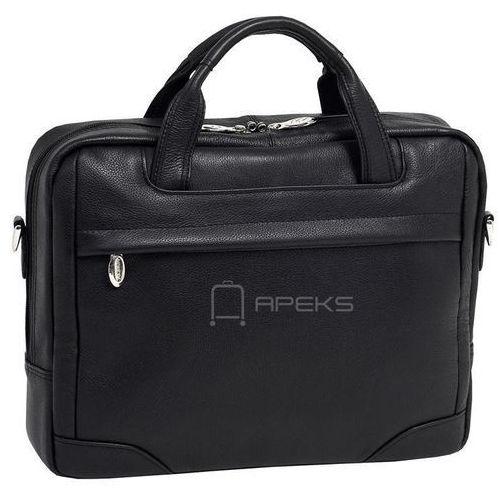 """Mcklein bridgeport skórzana torba na laptopa 17"""" - czarny (6421541547504)"""