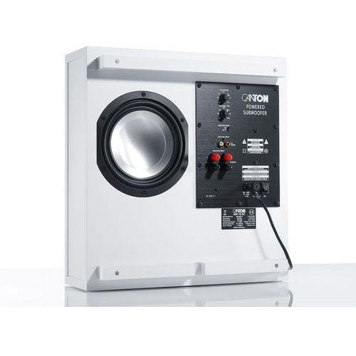 Canton asf 75 sc aktywny subwoofer bass reflex (60/120 w) biały (4010243027005)