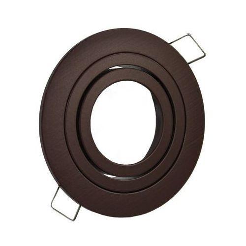 Oprawa sufitowa aluminium okrągła ruchoma brązowa chocolate marki Ledart