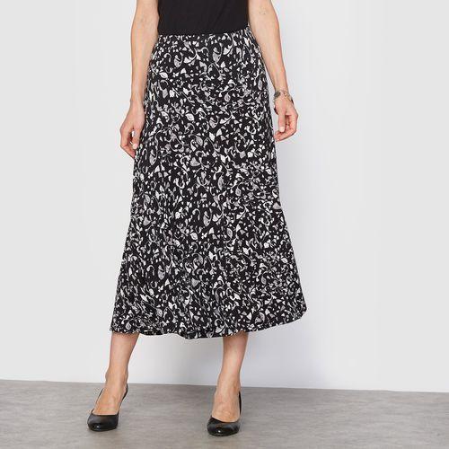 Spódnica z miękkiej dzianiny z nadrukiem, z gumką wciągniętą w talii., spódnica, spódniczka ANNE WEYBURN