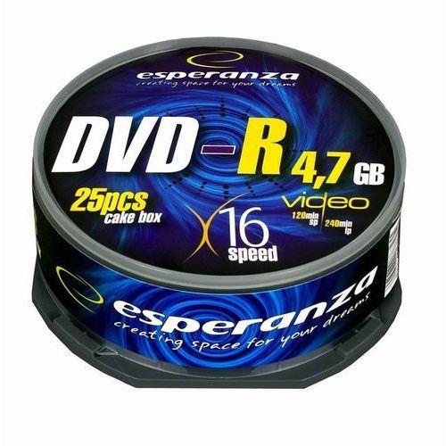 Esperanza DVD-R/25/Cake 4.7GB 16x Darmowy odbiór w 16 miastach!, E5905784763255