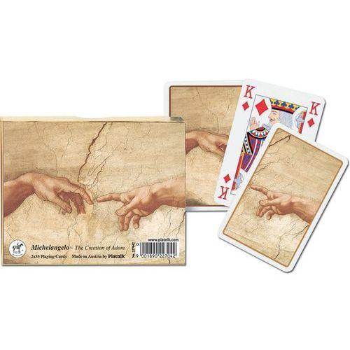 Karty 2 talie lux - michał anioł - stworzenie adama od producenta Piatnik