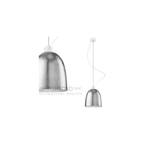 Lampa wisząca awa 1/s/silver/opal szklana oprawa zwis srebrny marki Sotto luce
