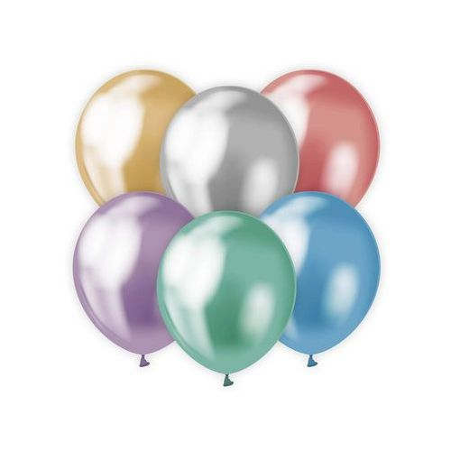 Beauty & charm Balony lateksowe platynowe mix kolorów - 30 cm - 7 szt.