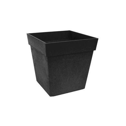 Donica ogrodowa 30 x 30 cm SYMPHONY czarna gumowa (5907736265237)