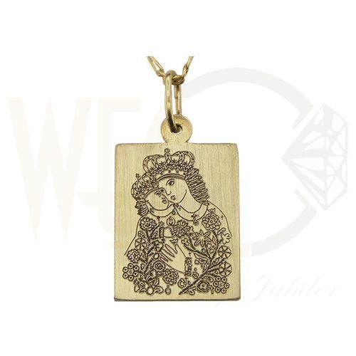 Medalik z żółtego złota wec-z-med-kalw-1 marki Węc - twój jubiler