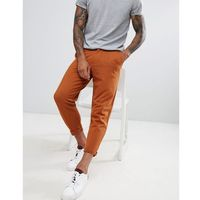 ASOS DESIGN skinny cropped joggers with turn up - Orange, w 5 rozmiarach