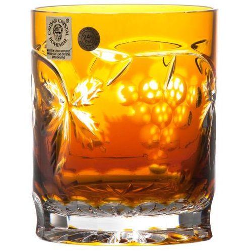 27264 szklanka winorośl, kolor bursztynowy, objętość 320 ml marki Caesar crystal