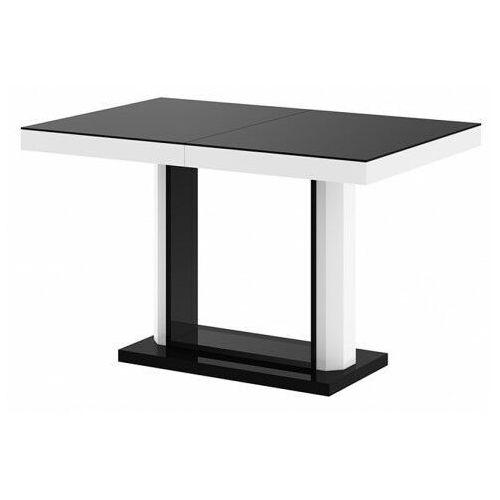 Rozkładany stół wysoki połysk czarno biały - Muldi 2X