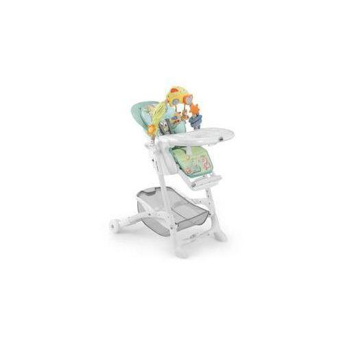Krzesełko do karmienia istante chrom 2016 biała/niebieska/zielona marki Cam