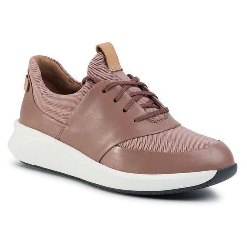 Sneakersy - un rio lace 261476054 dark blush combination, Clarks