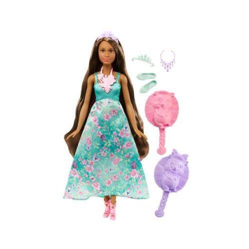 Barbie  dreamtopia - księżniczka - farbowanie włosów, brunetka