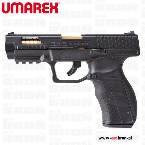 Wiatrówka pistolet sa9 operator edition blow back 4,46 mm bb - ruchomy metalowy zamek, nowość wyprodukowany przez Umarex