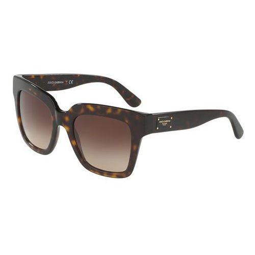 Okulary Słoneczne Dolce & Gabbana DG4286F Asian Fit 502/13, kolor żółty