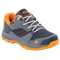 Jack wolfskin Buty trekkingowe dla dzieci mtn attack 3 xt texapore low k ebony / orange - 34