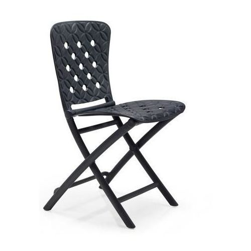 Krzesło składane Zac Spring grafitowe, 81488