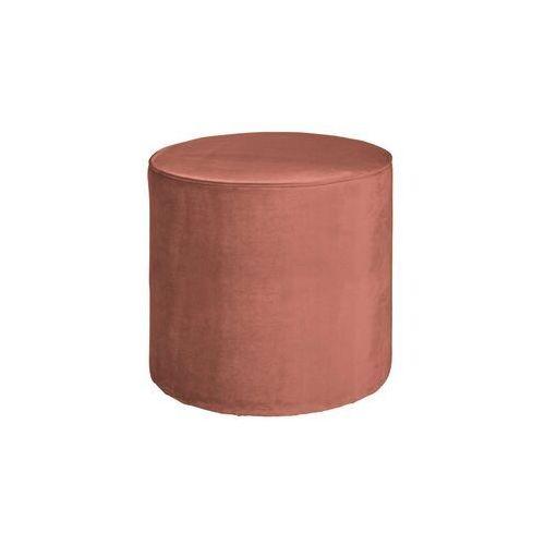 Woood pufa sara okrągła velvet postrzany różowy 350409-31 (8714713085927)