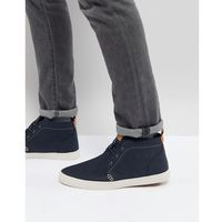 Call It Spring Thaywien Hi Top Plimsolls In Navy - Navy