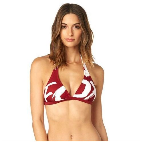 Fox Strój kąpielowy - rodka fixed halter top dark red (208) rozmiar: l