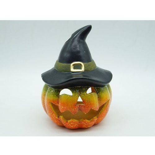 Tg Lampion ceramiczny dynia z kapeluszem na halloween - cm - 1 szt. (5900290707625)